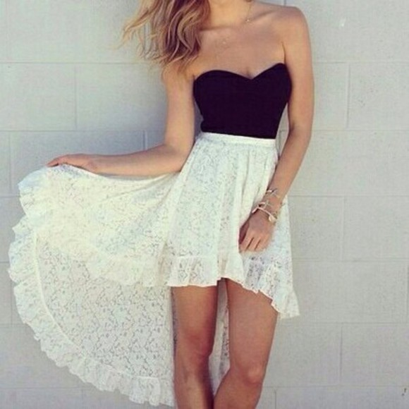 white shirt high low skirt white skirt high-low skirt