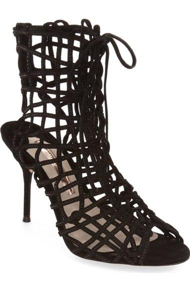 Sophia Webster 'Delphine' Metallic Leather Cage Bootie (Women) | Nordstrom