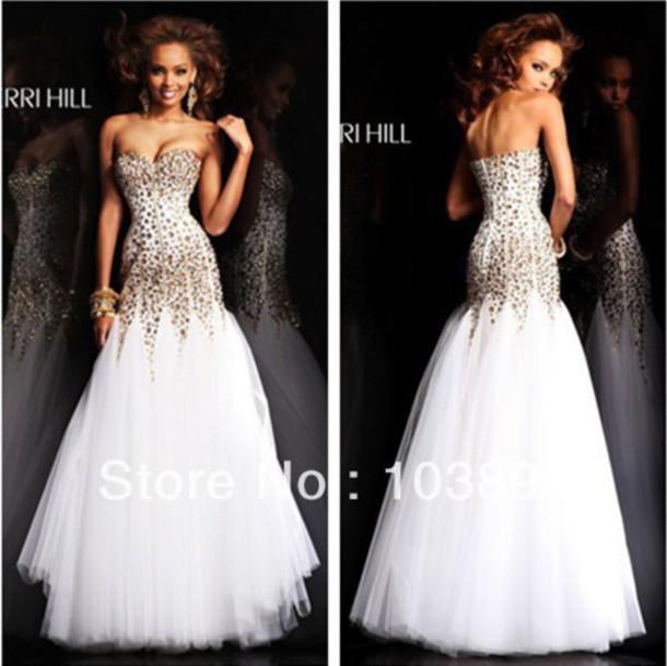 dress whie prom dress