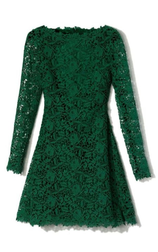 dress green lace clothes