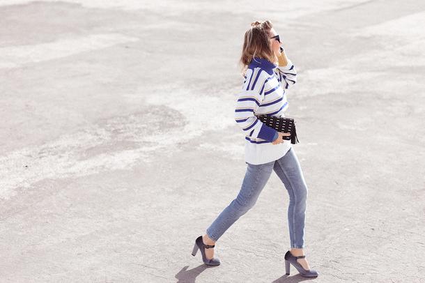 mi aventura con la moda blogger sweater jeans shoes bag jewels sunglasses