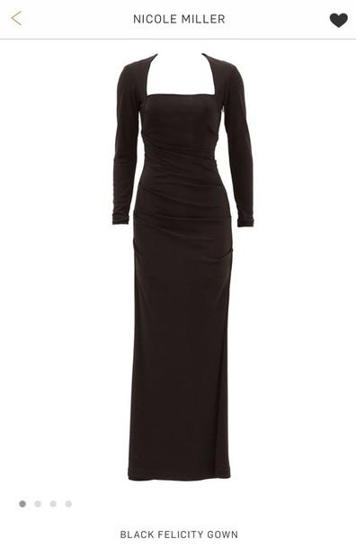 Dress Nicole Miller Black Dress Wheretoget