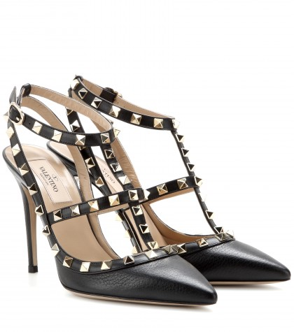 32bcfd106 mytheresa.com - Rockstud leather pumps - high heel - pumps - shoes ...