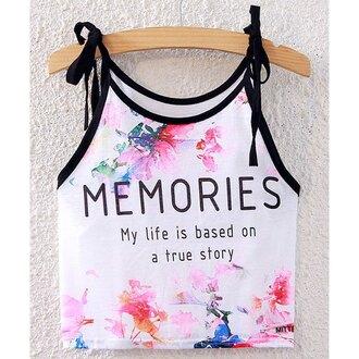 top rose wholesale crop tops cute floral fashion boho indie summer streetwear