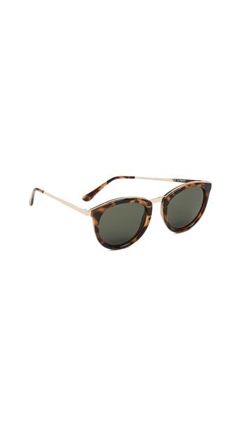 Le Specs No Smirking Sunglasses in khaki