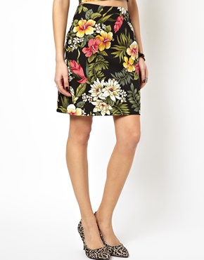 ASOS | ASOS Reclaimed Vintage Skirt in Hawaiian Print at ASOS