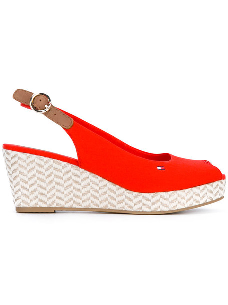 Tommy hilfiger women sandals cotton red shoes