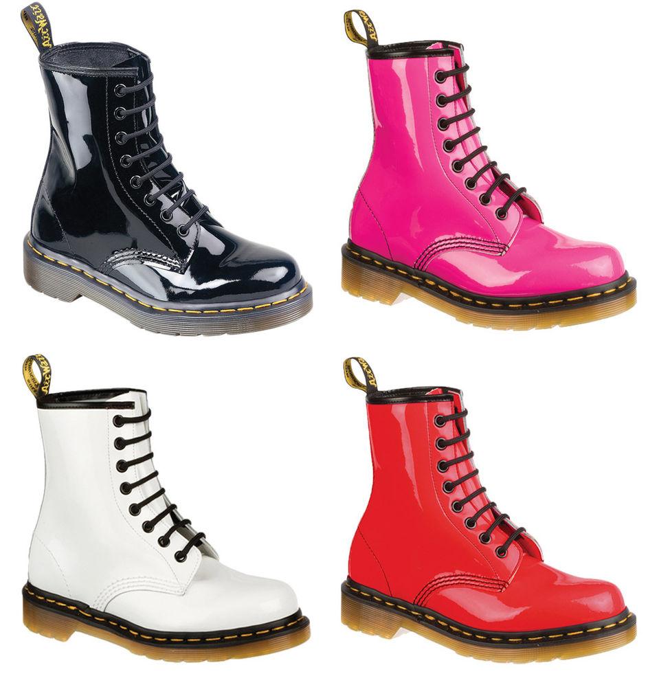 Dr Martens Air Wair Patent Boots 1460Z 8 Eyelits   eBay
