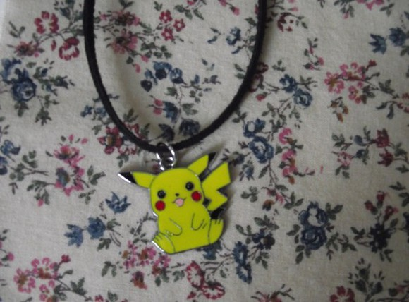 pokemon yellow necklace jewels black pikk choker necklace cute dress tumblr swag unicorn make-up
