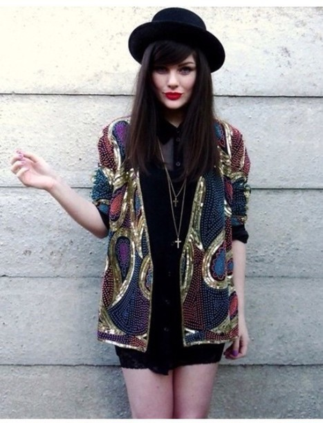 cardigan embroidered jacket colorful beautiful hat embellished jacket