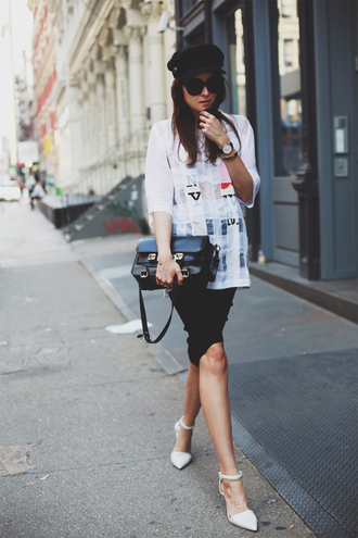 style scrapbook t-shirt skirt shoes hat bag sunglasses