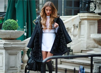 madame julietta blogger bag two-piece jumper see through black boots fall outfits alexander wang shoes blouse coat