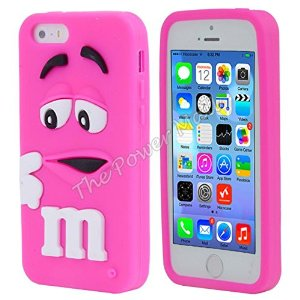 coque iphone 5s m m 39 s silicone rose high tech. Black Bedroom Furniture Sets. Home Design Ideas