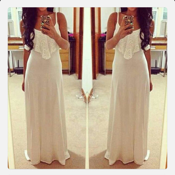 dress girly white dress long dress ivory dress wedding dress clothes fashion maxi dress bridesmaid dresses bridal dresses simple wedding dresses simple dress