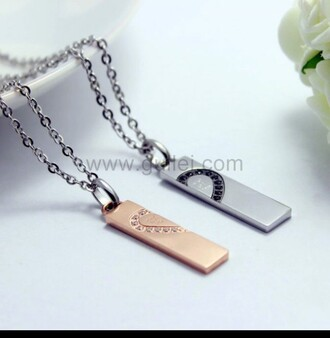 jewels couples necklaces gold necklace silver necklace