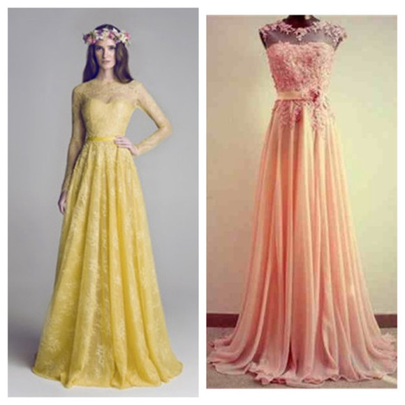 floral dress yellow dress mustard dress pink dress long dress gown