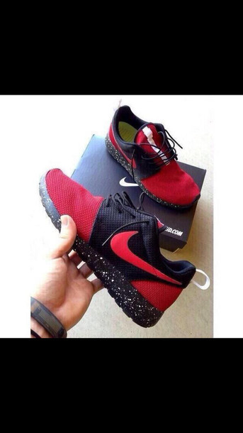 roshe runs shoes nike running shoes sports shoes black and red sportswear sports shoes nike shoes