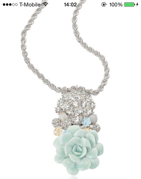 mint jewels rose necklace