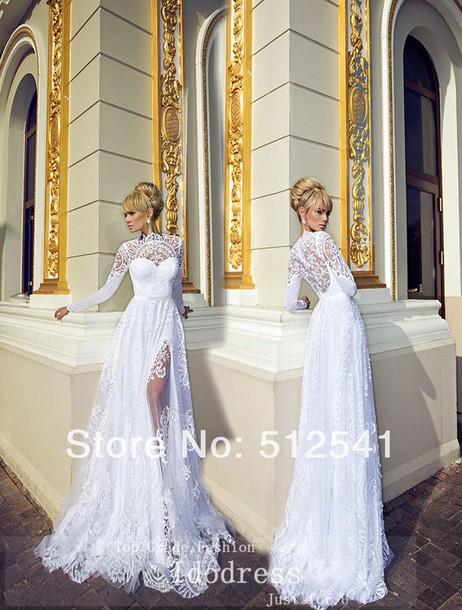 dress wedding dress wedding dress lace weddng white dress lace detailing lace dress bride dresses brides dress