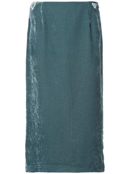 Cityshop skirt women blue velvet