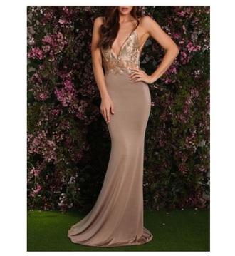 dress nude nude dress maxi dress formal dress prom gowns prom dress