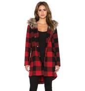 coat,BB Dakota,fur,revolve clothing,revolve,revolveme,winter outfits,winter coat,plaid,plaid coat,red plaid,fur hood,faux fur