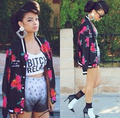 t-shirt,shirt,top,tank top,bandana print,black,white,fashion,floral,jewels,cute,sweater,style,jacket