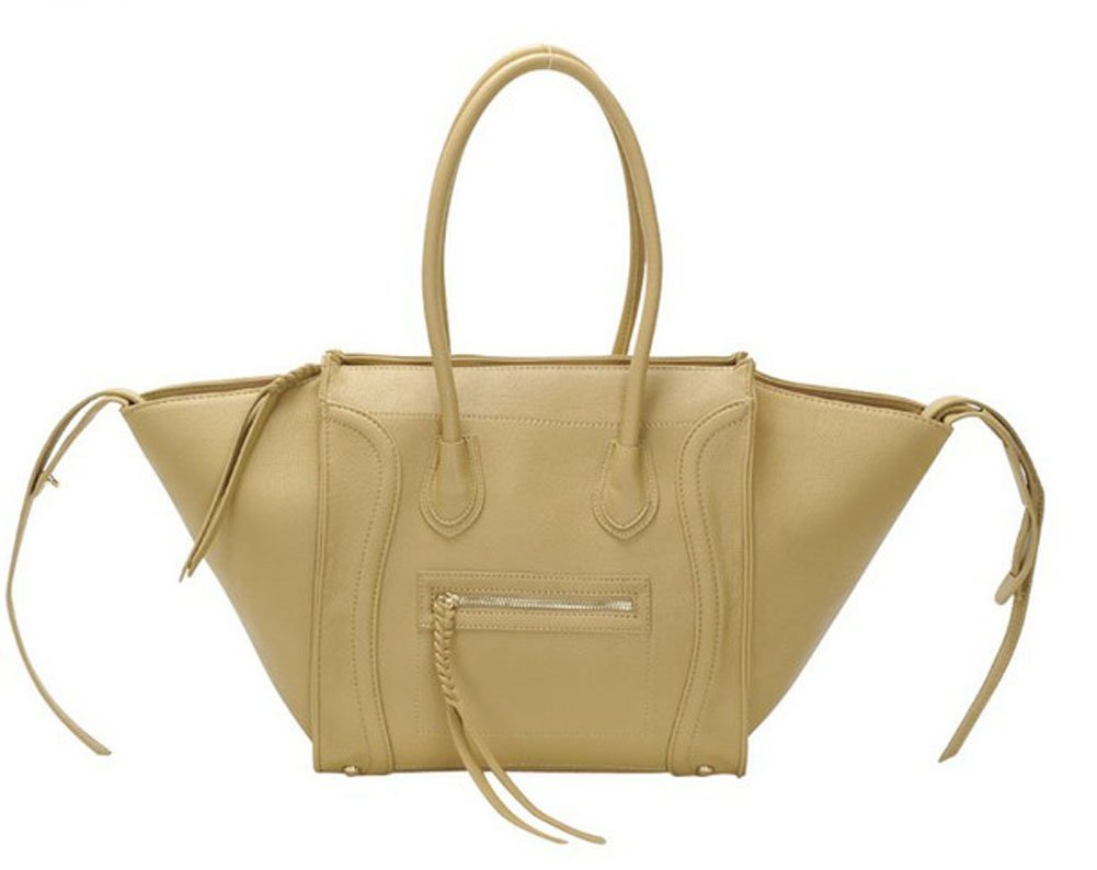Amazon.com: lobaque ladies smile tote shoulder bag womens handbag (light tan): sports & outdoors