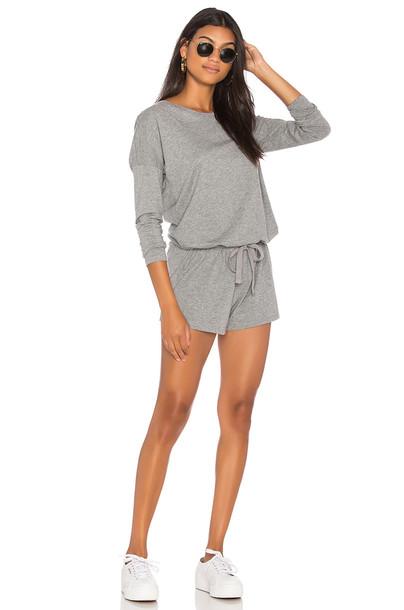 Bobi Supreme Jersey Romper in gray