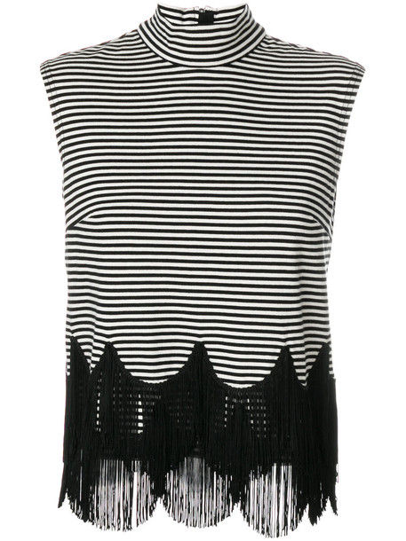 Marc Jacobs top fringed top women cotton black