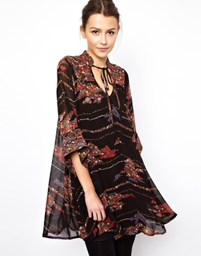 ASOS | ASOS Swing Dress In Boho Print at ASOS