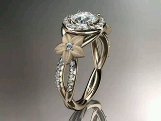 jewels ring diamonds floral engagement ring