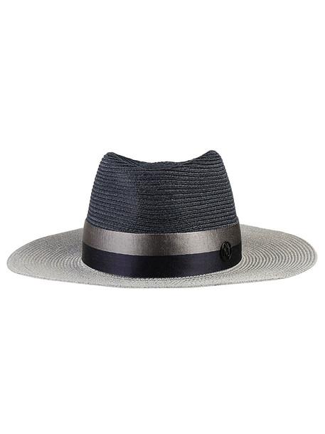 Maison Michel Virgnie Hat in navy / silver