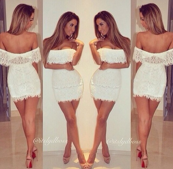 short dress white dress lace dress summer dress short party dresses