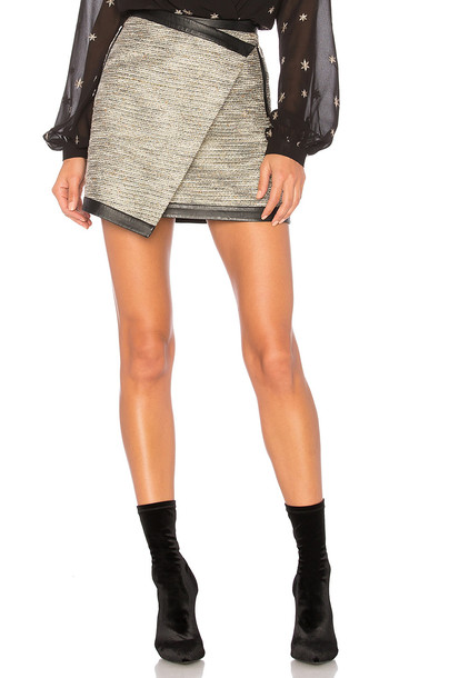 Lovers + Friends skirt metallic neutral