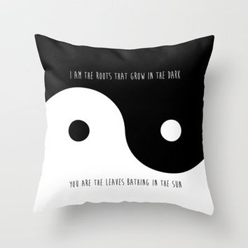 Yin Yang Throw Pillow by Sara Eshak | Society6 on Wanelo