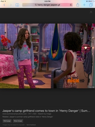 pajamas henry danger blue sweater tv