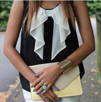 blouse black and white blouse black white white blouse black and white black blouse