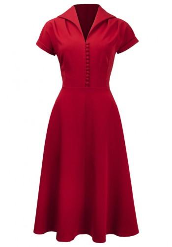 40s Corporate Appeal   Salsa Vintage Rockabilly Dress | ReoRia