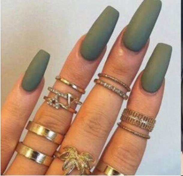 How To Make Olive Green Nail Polish: Nail Polish: Olive Green, Ring