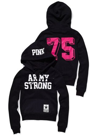 camouflage pink hoodie perfect victoria's secret army strong zip-up pink by victorias secret
