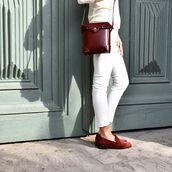 bag,manu atelier,crossbody bag,leather bag,tan leather,tan bag,box bag