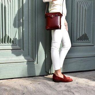 bag manu atelier crossbody bag leather bag tan leather tan bag box bag