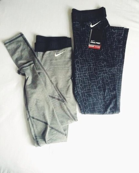leggings pants black nike, free run, trainers, running, sport, athletic, white, grey, shoes, nike sportswear sportswear gym clothes gym nike pro leggings patterend grey
