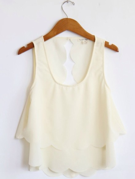 white tank top blouse white tank top cute fashion cute dress cut out white crop tops summer