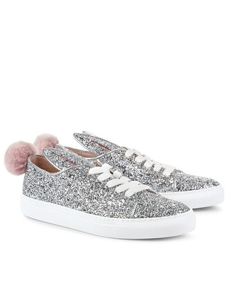 glitter bunny sneakers silver silver glitter shoes