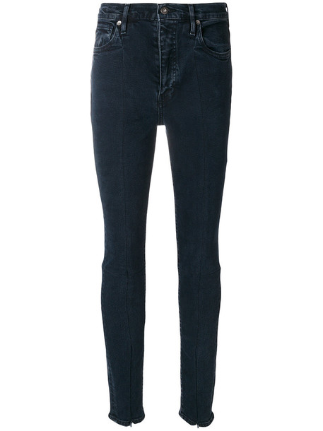 Levi's: Made & Crafted jeans zip women spandex cotton blue
