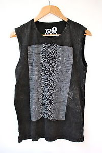 YoCoco Unknown Pleasures acid wash sleeveless t-shirt