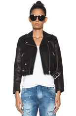 Mape leather jacket in black