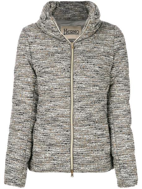 Herno jacket puffer jacket women cotton wool grey